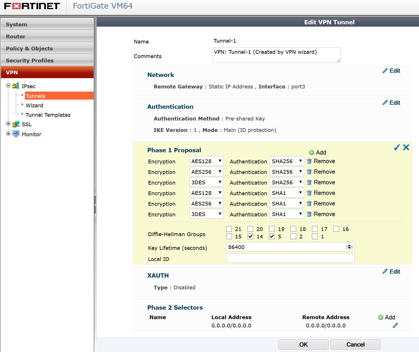 Fortigate VM Laborsetup mit Multi-WAN und IPSEC Failover mit