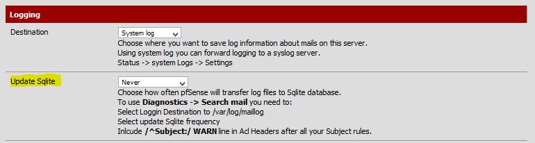 pfSense-Postfix-SQlite