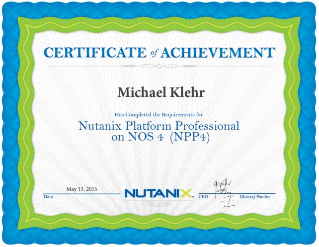 Michael Klehr 2 NUTANIX NPP